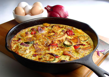 frittata - one of my favourite Italian dishes!