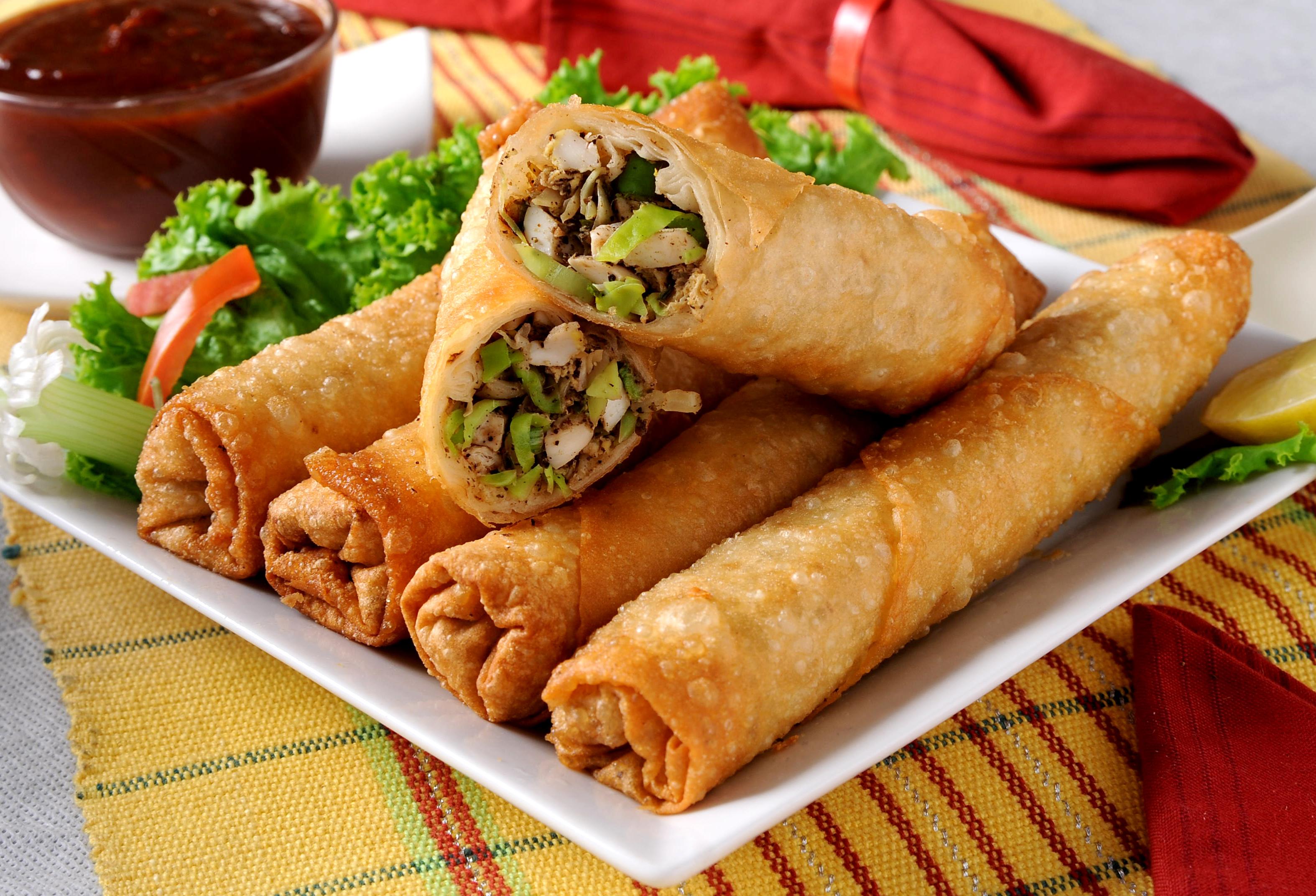 spring rolls spring rolls spring roll vegetable 5 curried chicken ...